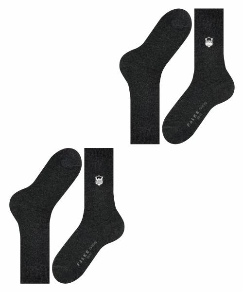 DSG FALKE Swing Herren Socken 2-Pack anthrazit