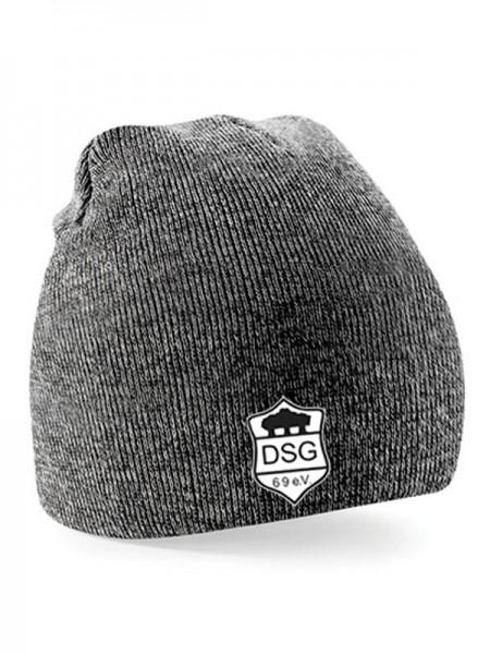 DSG Pull-On Beanie grau melliert