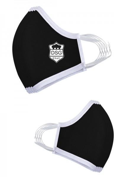Premium Mund-Nasen-Maske (3er Set) schwarz