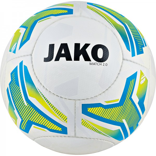 JAKO Lightball Match 2.0 Gr. 4 - 350g weiß-neongelb-blau