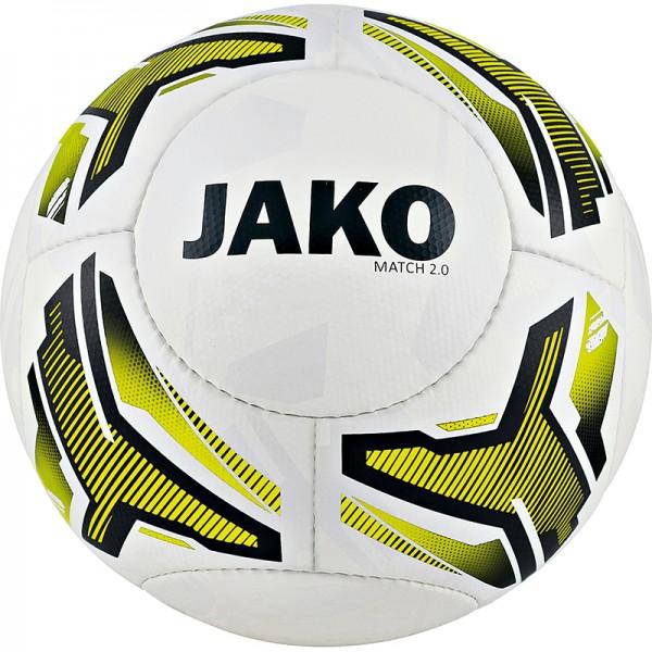 JAKO Lightball Match 2.0 Gr. 3 - 290g weiß-neongelb-schwarz