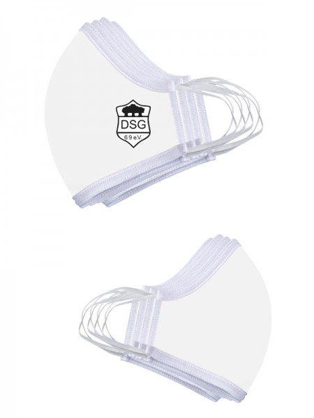 Premium Mund-Nasen-Maske (3er Set) weiss